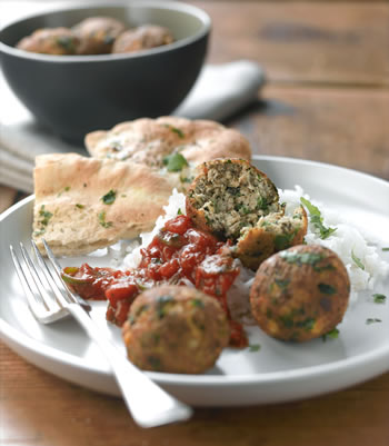 Koftas at the Vegetarian Cookery school
