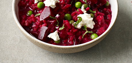 A healthy beetroot risotto from Dale Pinnock's The Medicinal Chef