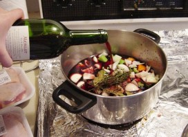 When cooking use a wine you'd be prepared to drink yourself