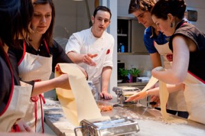 A fresh pasta making class at L'Atelier des Chefs, London