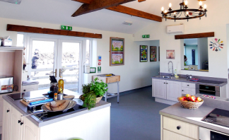 The Wellbeing Cookery School has all mod-cons in a country setting