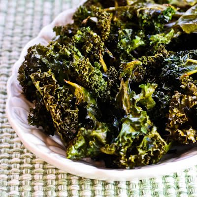 Kale chips are a healthy snack that's easy to bake in the oven