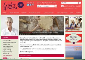 Pretty in pink: Lesley Waters' homepage is packed with information