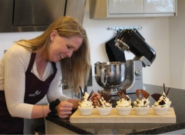 Cake making at Swift House Cookery School