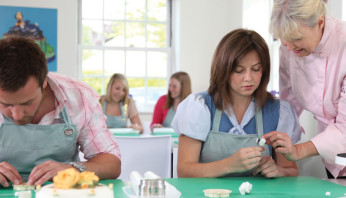 Students in one of the classrooms at Squires Kitchen