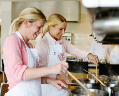 A cooking class in action at Bettys