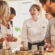 Alexis Thompson teaching in the barn kitchen of her cookery school