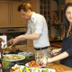 An Italian cookery course in full swing at the London branch of the international Enrica Rocca Cookery School