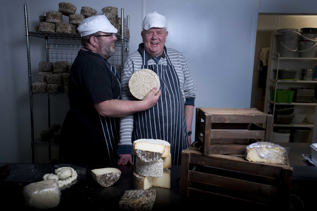 Philip Wilton and Keith Sides run an artisan cheese-making class in Tottenham