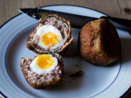 Scotch eggs as gourmet pub grub